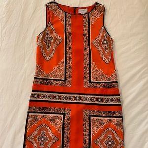 Orange patterned short sun dress